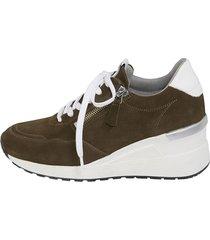 skor med snörning och dragkedja naturläufer khaki