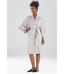 natori decadence sleep/lounge/bath wrap / robe, women's, silver, size l natori