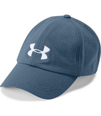gorra under armour threadborne renegade mujer-azul