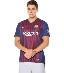 camiseta azul-rojo nike barcelona fc stadium home
