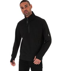 mens diagonal fleece quarter zip sweatshirt