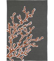 """kaleen matira mat01-32 tangerine 5' x 7'6"""" area rug"""