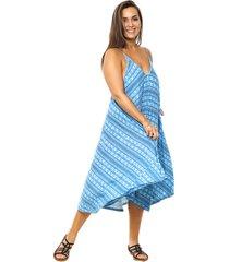 vestido azul vindaloo viscosa