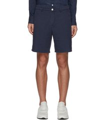 'eaton' mismatched back pocket linen shorts