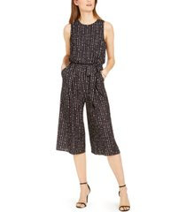 vince camuto dot-print cropped jumpsuit