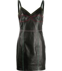 kirin fitted stitched-panel dress - black