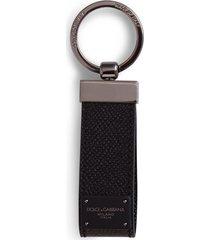 dolce & gabbana logo plaque key chain