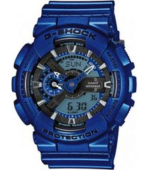 reloj g shock ga_110nm_2 azul resina