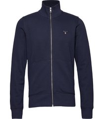 the original full zip cardigan sweat-shirt trui blauw gant