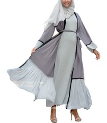 urban modesty women's two-tone maxi cardigan