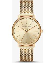mk orologio pyper tonalità oro con cinturino a maglie - oro (oro) - michael kors