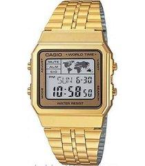 relógio casio a500wga9df dourado