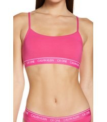 calvin klein ck one bralette, size large in party pink at nordstrom