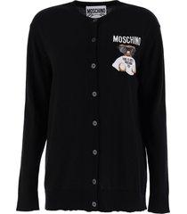 moschino micro teddy bear cardigan