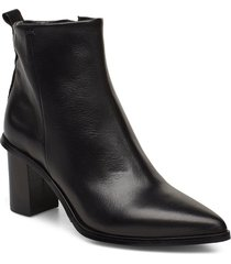 malin shoes boots ankle boots ankle boots with heel svart nude of scandinavia
