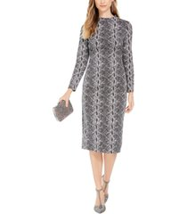 inc snake-embossed sheath midi dress, created for macy's