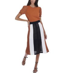 allison new york women's paneled skirt