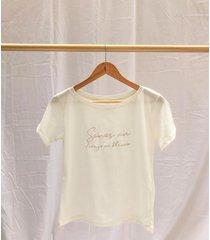 camiseta en algodón orgánico lienzo en blanco - la marquesa