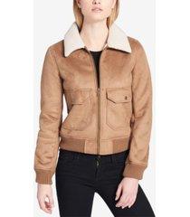 levi's women's sherpa-trim bomber jacket