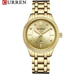 reloj de cuarzo para mujer curren / 9010-dorado
