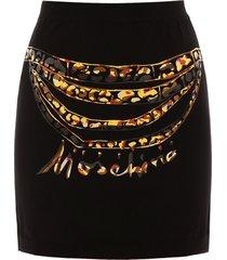 moschino moschino chains mini skirt