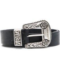 golden goose western-inspired buckled belt - black