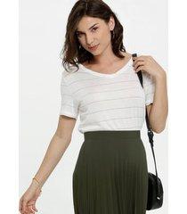 blusa feminina brilho manga curta marisa