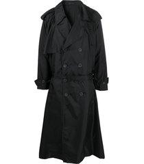yohji yamamoto trench coat - preto