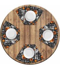 jogo americano love decor para mesa redonda wevans fast food kit com 4 pçs