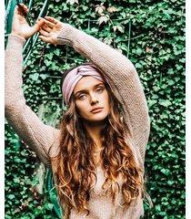 vintage pink basic - opaska do włosów