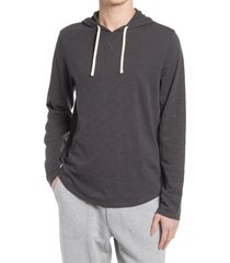 men's vince regular fit slub hoodie, size x-large r - grey
