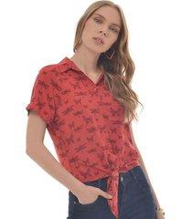 camisa para mujer en poliester multicolor color-multicolor-talla-s