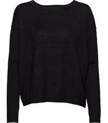 elne knit gebreide trui zwart minus