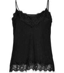 recycled polyester strap top t-shirts & tops sleeveless zwart rosemunde