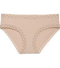 natori intimates bliss girl comfortable brief panty underwear, women's, 100% cotton, size l