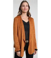 blazer feminino em suede cobre