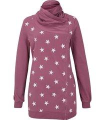 cardigan in jersey fantasia con cerniere (rosa) - bpc bonprix collection