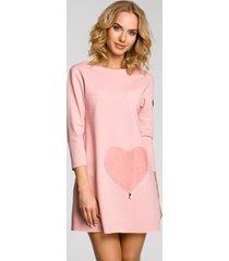 sukienka mini z kieszonką w kształcie serca