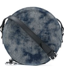 diesel tie-dye denim crossbody bag - blue