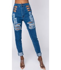 akira not so common distressed skinny jeans