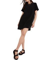 women's madewell mwl airyterry sweatshirt dress, size xx-large - black