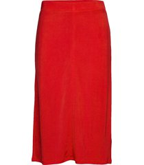 margaret skirt knälång kjol röd filippa k