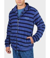 pyjama's / nachthemden admas for men gewatteerd blauw admas binnenjasje