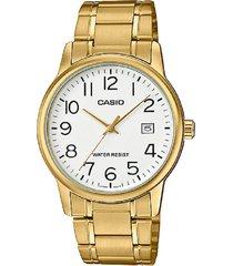 reloj casio mtp-v002g-7b2 análogo dorado para hombre