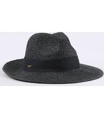 chapéu feminino texturizado com faixa preto