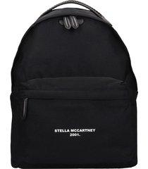 stella mccartney falabella backpack in black synthetic fibers