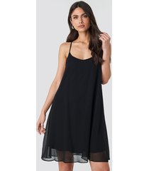 na-kd party cami chiffon dress - black