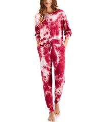 jenni women's tie-dyed loungewear set, created for macy's