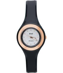 los angeles – orologio so fancy 3h nero con ghiera dorata e quadrante glitter per donna