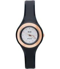 los angeles – orologio so fancy 3h nero con ghiera dorata e quadrante glitter per donna